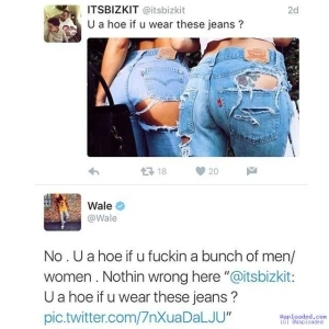 Rapper Wale says you are not a h*e if you wear this kind of jeans (photo)